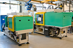 Arburg 570 injection moulding machine installed in factory
