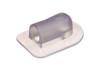 09-002 Vinklet PVC/PUR plastikflange til 6 mm slange