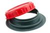 03-129 PVC/PE Nozzle With Cap + Gasket, 98 mm