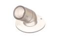 PVC Winkelflansch 45°. 45 Grad Winkelanschluß für medizinische und allgemeine Zwecke. Mit eingebautem Schlauchstopp.
