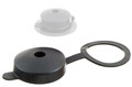 Plastic protection Cap with attachment ring.. Plastic protection cap for modular valves