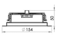 Small technical drawing of 03-131 Embase 98 mm +  bouchon (Ventilé)