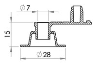 Small technical drawing of 03-207 Valves 7 mm sans anti-retour