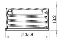 Small technical drawing of 03-935 Bouchon visse pour embase 25 mm