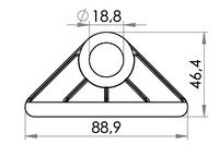 Small technical drawing of 04-105 Triangle de renfort PVC