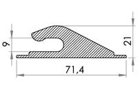 Small technical drawing of 05-431 PVC Kunststoff Planenhaken