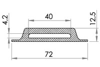 Big drawing of 05-442 Reinforced plastic Cleat for webbing, 40/4 mm
