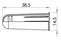 Small technical drawing of 09-537 Kappe für Stufenverbinder 09-737