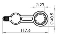 Small technical drawing of 09-675 Orifice / valve de remplissage, 23 mm