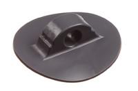 Kunststoff Leinenhalter, 11/64 mm. HF-schweißbarer Leinenhalter. Für Seil oder Gummiseil von bis zu 11 mm. 56 mm Rundfuß.