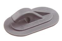 PVC Kunststoff Planenhaken. HF-schweißbarer PVC-Haken für Seil oder Gummiseil von bis zu 8 mm Durchmesser.