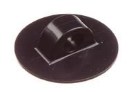 PVC Leinenhalter, 11/55 mm. HF-schweißbarer Leinenhalter. Für Seil oder Gummiseil von bis zu 11 mm. 56 mm Rundfuß.