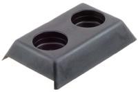 PE Bolz-Deckel, 2 Löcher, Neutral. Bolz-Deckel. Für Anhänger mit Gardinenplane.