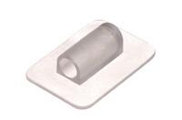PVC Schirmenhalter, Schwer. Schweißbarer Ankerpunkt, eignet sich für steife Strukturen mit Ø5 mm Stangen, z. B. Schirme, Zelte, Abdeckungen etc.
