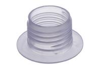 Kunststoff Schraubflansch, 34 mm. 34 mm Schraubflanschen mit weicher Bohrung. Für Ultraschall / HF schweißen optimiert