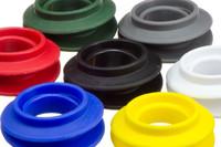 Clip öse Satz, Ø20 mm. Kunststoff Clip-Öse zur Verstärkung von 20 mm Löcher in Textilien, Markisen, Planen, Banner etc. Kann manuell eingesetzt werden.