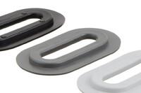 04-206 Oval plastic Eyelet, Oval, 13/51 mm