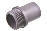 """03-199 PVC Threaded tube connector with G 3/4"""" pipe thread"""