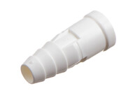 09-742 Connecteur en PVC, Barbelé pour tube médical