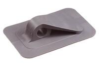 05-148 Point d'attache en PVC w. base carrée, 12/90 mm