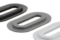 04-206 Œillet en plastique ovale, ovale, 13/51 mm