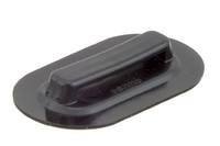"Reinforced plastic Cleat for webbing, 40/4 mm. Reinforced High Frequency / Radio Frequency (HF / RF) weldable plastic cleat suitable for 1 ½"" (38 mm) webbing."