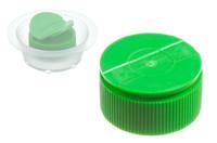 PE plastic screwcap with Wings, 25 mm. 25 mm plastic screwcap with wings. A practical solution with recessed nozzles.