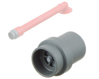 Pressure / inflation valve, Grey, ABS For Tubes. Plastic inflation valve for use with tube connectors