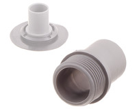 "PVC Threaded tube connector with G 3/4"" pipe thread. For attachment of tubing directly to the 03-601 flange. G 3/4"" pipe thread, smooth body"