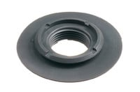 "Threaded plastic flange with internal thread G 3/4"". HF/ultrasonic weldable plastic flange with internal G3/4"" thread. Weldable onto PVC and PUR materials. Industry standard thread, compatible with a range of Carmo fittings and those of other manufacturers."