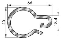 Big drawing of 06-141 Plastic curtain ring