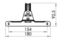 Big drawing of 09-110 Urinbeutelhanger mit Haken, 154mm