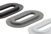 04-206 Oval plastic Eyelet, Oval, 13/51 mm
