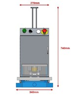 Eyelet setter machine CP9 front view