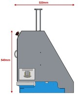 Eyelet setter machine CP9 side view