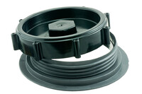 03-130 Heavy Duty plast dæksel med gevindflange, Ø146 mm