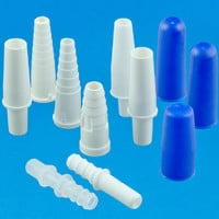 Plastic tube connectors for urine bag