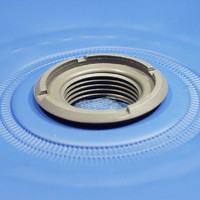 Threaded plastic flange optimized for High Frequency Welding (HF / RF Welding)