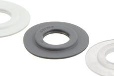 Heavy duty PVC Eyelet , 15/37 mm, Stacked