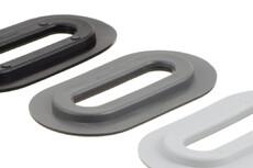 Oval plastic Eyelet, Oval, 13/51 mm