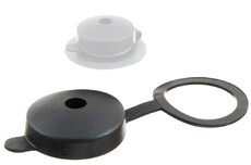 Plastic protection Cap with attachment ring.