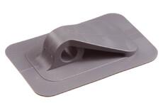 Point d'attache en PVC w. base carrée, 12/90 mm