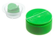 Bouchon à vis en plastique PE avec ailettes, 25 mm