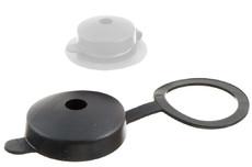 Capuchon de protection en plastique avec anneau de fixation.