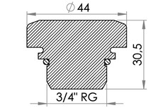 "Small technical drawing of 03-374 Pressure Relief Valve with G 3/4"" pipe thread"