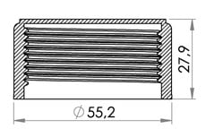 Small technical drawing of 03-976 Bouchon de valve 1½""