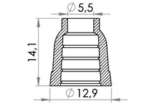 Small technical drawing of 06-739 Kunststoff Quast
