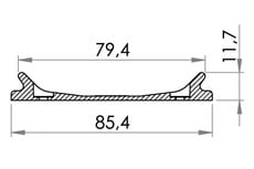 Small technical drawing of 06-761 Stabilisateur de boucle de reliure