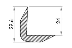 Small technical drawing of 06-814 Edge protector