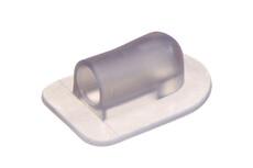 Vinklet PVC/PUR plastikflange til 6 mm slange